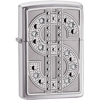 Zippo Lighter with Bling Emblem