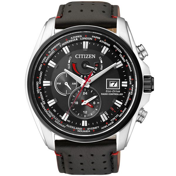 Citizen World Time A-T Gents Watch with Leather Strap Image