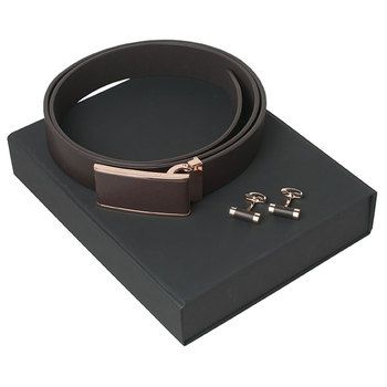 Christian Lacroix Belt and Cufflinks Gift Set