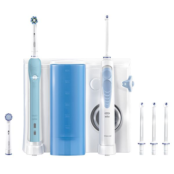 Oral-B PRO 700 Cross Action Toothbrush + Water Jet Mouth Shower Image