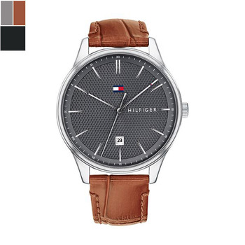 Tommy Hilfiger DAMON Gents Watch with Leather Strap